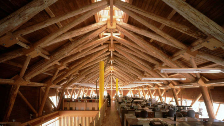 『置戸営林署庁舎』現場の高度技能と工場の高度技術の連携