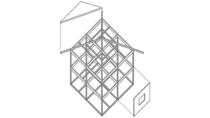 ペリメータストラクチュアからスケルトンモノコックへ『部品化木造住宅  試作A棟』『いえづくり'85誠和案』